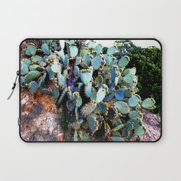 Invasion of colorful Cactus green blue red Laptop Sleeve