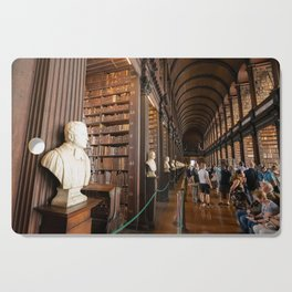 The Long Room of Trinity College Library in Dublin, Ireland Cutting Board