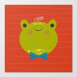 Dressy Froggy Canvas Print
