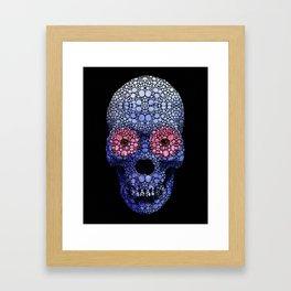 Skull Art - Day Of The Dead 1 Stone Rock'd Framed Art Print