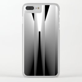 Origami: pattern of light and dark Clear iPhone Case