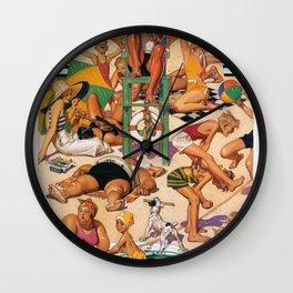 Joseph Christian Leyendecker - Labor Day Beach - Digital Remastered Edition Wall Clock