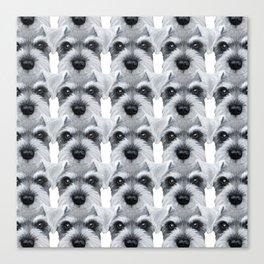 Schnauzer pattern-Grey Dog illustration original painting print Canvas Print