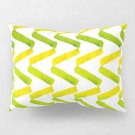 Chartreuse + Lemon Watercolor Chevron  Pillow Sham