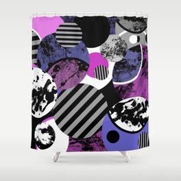 an-ARC-hy! (Abstract, geometric, sphere, circle, pop art, chaotic, eclectic, random artwork) Shower Curtain