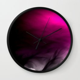 Pink Flames Pink to Black Gradient Wall Clock