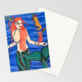 Mardi Gras Mermaid Stationery Cards