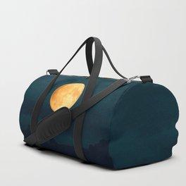 Full Moon Shines Overnight #decor #society6 #buyart #homedecor Duffle Bag