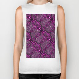 Charming shiny Chains, purple pink Biker Tank