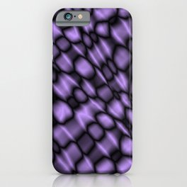 Intersection of pastel drops of a blackberry grid of dark cracks on glass. iPhone Case