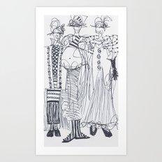 Fashion Doodle #5 Art Print