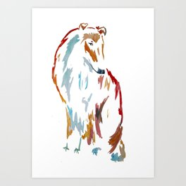 For the Love of Collie Art Print