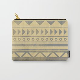 Ethnic geometric pattern with triangles circles and lines Carry-All Pouch