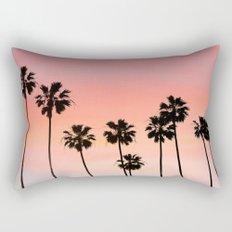 Blushing Palms Rectangular Pillow