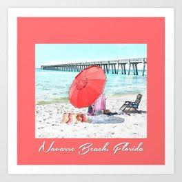 Navarre Beach Coral Art Print