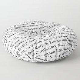 The Ladies of Literature Pattern Floor Pillow