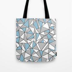 Abstraction Lines Sky Blue Tote Bag