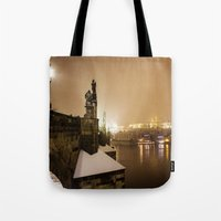 prague Tote Bags featuring Prague 6 by Veronika