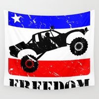 runner Wall Tapestries featuring FREEDOM! Pre-Runner by SCREAMNJIMMY