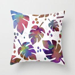 Rio Palm (white) Throw Pillow
