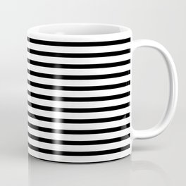 Stripped horizontal black and white pattern Coffee Mug