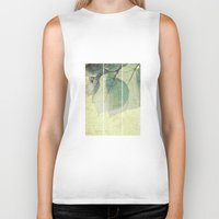 lime Biker Tanks featuring lime leaves by PaulaPanther