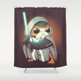 The Last Porg Shower Curtain
