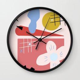 Modern Abstract Shapes Print Wall Clock