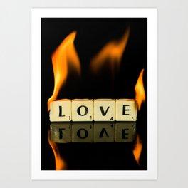 Burning love Art Print