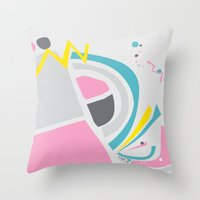 cake Throw Pillows featuring Cake by These Are Strange Days