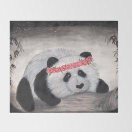 Kensey bear-watercolor Throw Blanket
