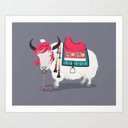 Himalayan Yak Art Print