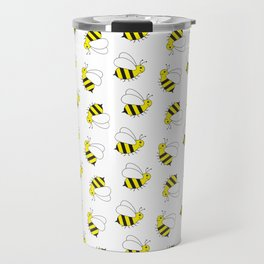 Bumble Bee Pattern Travel Mug