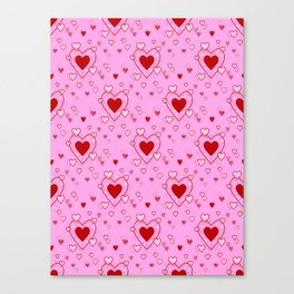 Hearts Pattern Canvas Print