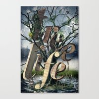 tree of life Canvas Prints featuring Tree Life by LOOSE GERMS