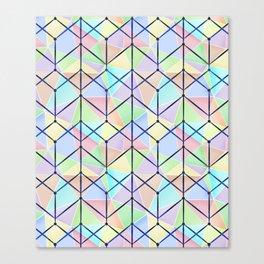 Colorful geometric polygonal pattern. Canvas Print