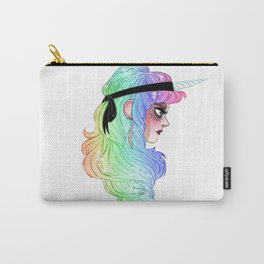 Bad human unicorn Carry-All Pouch
