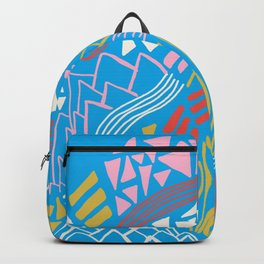 cascade, abstract terrain Backpack