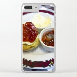 Cream tea for one Clear iPhone Case