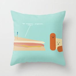 Croqueta Preparada Throw Pillow