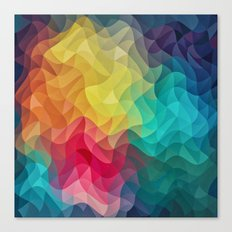 Abstract Color Wave Flash Canvas Print