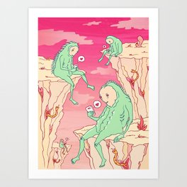 Love Canyon aliens technology scifi sci-fi surrealist print Art Print