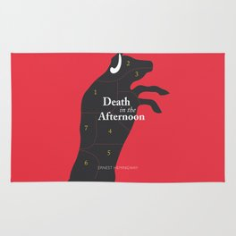 Ernest Hemingway book cover & Poster, Death in the Afternoon, bullfighting stories Rug
