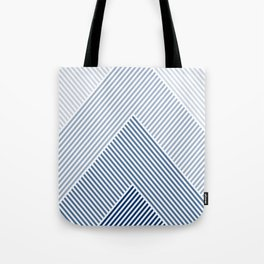 Shades of Blue Abstract geometric pattern Tote Bag
