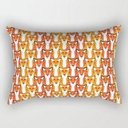 Autumn Foxes Rectangular Pillow
