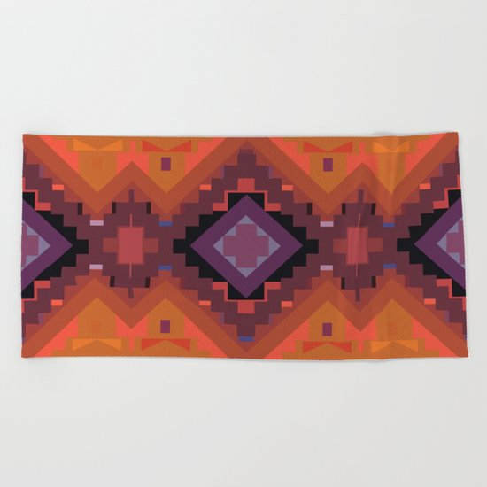 American Native Pattern No. 35 Beach Towel