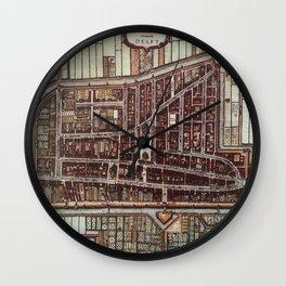 Replica city map of Delft 1649 Wall Clock