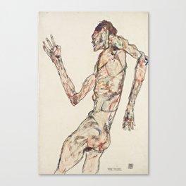 Egon Schiele, The Dancer, 1913 Canvas Print
