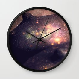 Galaxy Breasts Mauve Teal Wall Clock
