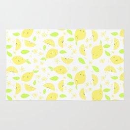 Capri Lemon Slices (white) Rug